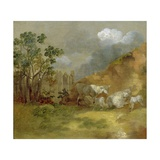 Landscape with Sheep, C.1744 Giclee Print by Thomas Gainsborough