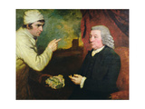A Gentleman and a Miner with a Specimen of Copper Ore Giclee Print by John Opie