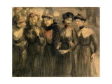 The Walk, C.1881 Giclee Print by Théophile Alexandre Steinlen