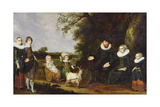 Portrait of the Artist's Family Lámina giclée por Jacob Gerritsz Cuyp