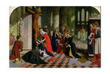 The Renunciation of Queen Elizabeth of Hungary, 1850 Giclee Print by James Collinson