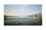 A View of the Thames at Westminster Bridge Giclee Print by Joseph Nicholls