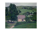 Landscape with Thatched Barn Giclee Print by Robert Polhill Bevan