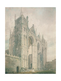 West Front of Peterborough Cathedral, 18th Century Giclee Print by Thomas Girtin