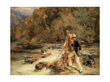 Landseer and Lewis Fishing Giclee Print by John Frederick Lewis