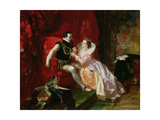 Leicester and Amy Robsart at Cumnor Hall, 1866 Giclee Print by Edward Matthew Ward