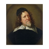 Portrait of Inigo Jones Wearing a Black Tunic and Cap Giclee Print by Jonathan Richardson