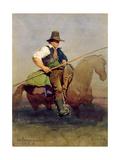 'Un Campagnole', a Roman Peasant on Horseback, 1858 Giclee Print by Carl Haag