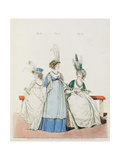 Evening Dresses for Opera and Concerts, Fig. 96, 97 and 98 from Nikolaus Heideloff's 'Gallery of… Giclee Print by Nicolaus von Heideloff