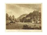 View at Redbrook in the River Wye, Plate 13 from 'Views of the River Wye', Engraved by F. Jukes,… Giclee Print by Edward Dayes
