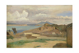 Ischia, View from the Slopes of Mount Epomeo, 1828 Giclee Print by Jean-Baptiste-Camille Corot