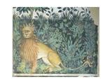 The Fountain of Life, Detail of a Lion, 1418-30 Giclée-tryk af Giacomo Jaquerio