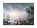 Seaport at Dawn, 1751 Giclée-Druck von Claude Joseph Vernet