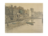 A Thames View Showing the Adam and Eve Tavern in Chelsea, 1868 Giclee Print by Walter Greaves