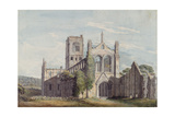 North West View of Kirkstall Abbey, 1777 Giclee Print by Moses Griffiths