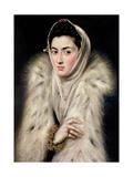 Lady in a Fur Wrap Giclée-tryk af  El Greco