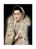 Lady in a Fur Wrap Giclee Print by  El Greco