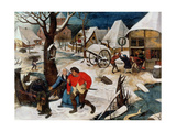 The Drunkard Being Led Home Giclée-Druck von Pieter Brueghel the Younger