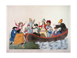 """Non Commission Officers Embarking for Botany Bay"", Depicting the Prince of Wales and Members of… Giclee Print by John Boyne"