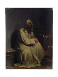 Portrait of a Monk Seated, 1847 Giclee Print by Carl Haag