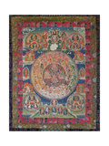 Thangka of Peaceful and Wrathful Deities, 19th-20th Century Giclee Print