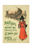 Reproduction of a Poster Advertising the 'Moulin De La Galette' Matinee Ball, 1896 Giclee Print by  Roedel