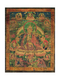 Thangka of Padmasambhava and His 'Eight Manifestations', 19th-20th Century Giclee Print