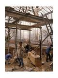 Building a Glasshouse, 1890 Giclee Print by Edouard-Joseph Dantan