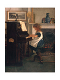 At the Piano Giclee Print by Henry Stacey Marks