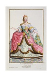 Portrait of Empress Catherine II 'The Great' of Russia (1729-96), from a Collection of Plates… Giclee Print by Pierre Duflos