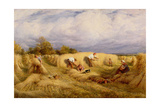 Harvesters, 1855 Giclee Print by John Linnell
