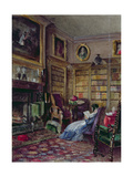 The Library, Piccadilly Giclee Print by Lady Honoria Cadogan