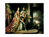 Earl and Countess of Mexborough, with their Son Lord Pollington, 1761-64 Giclee-trykk av Sir Joshua Reynolds