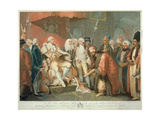 His Majesty and Officers of State Receiving the Turkish Ambassador and Suit, Engraved by Daniel… Giclee Print by Mather Brown