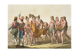 Caciche Ruler Accompanied by His Wives Giclee Print by Gallo Gallina