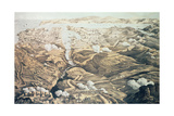 A Panoramic View of the External and Internal Defences of Sebastopol, the Batteries, Trenches and… Giclee Print by Thomas Packer