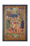Thangka of Parinirvana of the Buddha, 19th-20th Century Giclee Print
