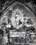 Pope Alexander VI (1431-1503) Adoring the Resurrected Christ Fotografisk tryk af Bernardino di Betto Pinturicchio