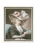 Mrs Mills, Engraved and Pub. by John Raphael Smith (1752-1812), 1786 Giclee Print by George Engleheart