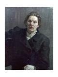 Portrait of Maxim Gorky (Aleksai Maksimovich Peshkov) (1868-1936) 1899 Giclee Print by Ilya Efimovich Repin