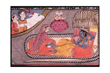 Vishnu Reclining on the Serpent Sesha, Attended by Lakshmi and Watched over by Siva and Parvati,… Giclee Print