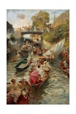 Boulter's Lock: Sunday Afternoon, 1885-97 Giclee Print by Edward John Gregory