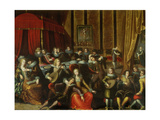 Scene Galante in a Chateau Giclee Print by Louis de Caullery