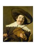Daniel Van Aken Playing the Violin, C.1640 Giclee Print by Frans Hals