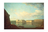 The Palace Embankment Seen from the Peter and Paul Fortress, St. Petersburg Giclee Print by Fedor Yakovlevich Alekseev