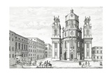 Church of Notre Dame, Salzburg, Austria, from 'Entwurf Einer Historischen Architecktur', Engraved… Giclee Print by Johann Bernhard Fischer Von Erlach