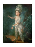 Portrait of the Dauphin, Later King Louis XVII of France (1785-95) Giclee Print by Jacques-Fabien Gautier d'Agoty