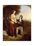 The Parting of Robert Burns and His Mary, 1844 Giclee Print by Charles Lucy