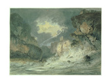 Dunstanburgh Castle in a Thunderstorm, 18th Century Giclee Print by Thomas Girtin