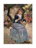 Girl with a Sunshade, 1879 Giclee Print by Jules Bastien-Lepage